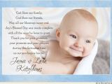 Thank You Message for Baptism Invitation Blessed Baby Thank You Card Christening Baptism