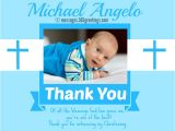 Thank You Message for Baptism Invitation Christening Thank You Messages 365greetings