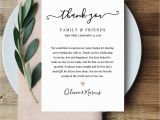 Thank You Message for Wedding Invitation Wedding Thank You Letter Thank You Note Printable Wedding In