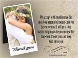 Thank You Message for Wedding Invitation Wedding Thank You Notes Wordings and Messages