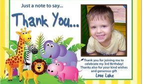 Thanks for Invitation Birthday Party Cu696b Jungle Party Birthday Invitation Thank You