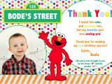 Thanks for Invitation Birthday Party Sesame Street 2nd Birthday Invitations Best Party Ideas