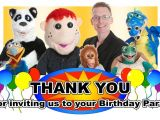 Thanks for Inviting Us to Your Party Party Entertainers Childrens Party Entertainment