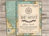 The Adventure Begins Baby Shower Invitations the Adventure Begins Baby Shower Invitations Map Pass theme