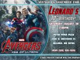 The Avengers Party Invitations Avengers Birthday Invitation Kustom Kreations