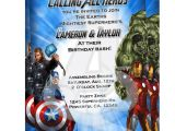 The Avengers Party Invitations Avengers Invitation 1 25
