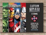 The Avengers Party Invitations Superhero Invitation Super Hero Invite Avengers Birthday