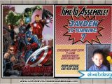 The Avengers Party Invitations the Avengers Birthday Invitations the Avengers Age Of Ultron