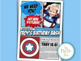 The Avengers Party Invitations the Avengers Kids Summer Birthday Party Invitation Kids