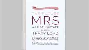 The Future Mr and Mrs Wedding Invitation the Future Mrs Wedding Shower Invitation Custom by Lashepherd