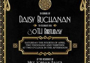 The Great Gatsby Party Invitation Gatsby Invitation Art Deco Birthday Party or Bridal Shower