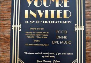 The Great Gatsby Party Invitation Gatsby Party Invites Gypsy soul