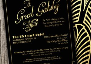 The Great Gatsby Party Invitation Great Gatsby themed Party Invitations Cimvitation