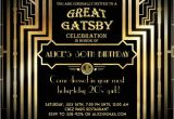 The Great Gatsby Party Invitation Party Invitations Great Gatsby Party Invitations Ideas