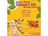 The Lion King Birthday Invitations Lion King Birthday Invitation