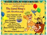 The Lion King Birthday Invitations Lion King Birthday Party Invitations