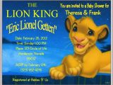 The Lion King Birthday Invitations Lion King Party Invitations