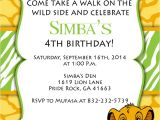 The Lion King Birthday Invitations Print Your Own Lion King Birthday Invitation Simba by
