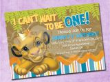 The Lion King Birthday Invitations Simba Lion King Birthday Invitation