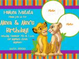 The Lion King Birthday Party Invitations Lion King Birthday Invitation by Lovelifeinvites On Etsy