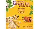 The Lion King Birthday Party Invitations Lion King Birthday Invitation