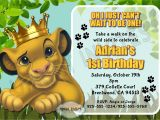 The Lion King Birthday Party Invitations Lion King Birthday Invitations Invitation Librarry