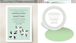 The Mint Wedding Invitations Wedding Invitation Color Trend Mint Green Invitation Crush