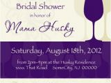 Themed Bridal Shower Invitation Wording Wine themed Bridal Shower Invitations Template