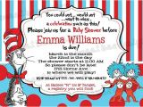 Thing 1 and Thing 2 Baby Shower Invitation Template Printable Dr Seuss Baby Shower Invitations for E Baby