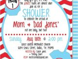 Thing 1 and Thing 2 Baby Shower Invitation Template Terrific Thing and Invitations Baby Shower Ideas Design