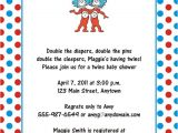 Thing One and Thing Two Baby Shower Invitations Digital File Thing 1 and Thing 2 Dr Seuss Birthday or Baby