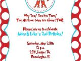 Thing One and Thing Two Baby Shower Invitations Items Similar to Dr Seuss Thing 1 Thing 2 Birthday Party