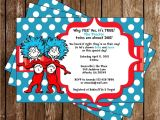 Thing One and Thing Two Baby Shower Invitations Novel Concept Designs Thing 1 and Thing 2 Twins Baby