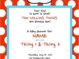 Thing One Thing Two Baby Shower Invitations Dr Seuss Thing 1 & Thing 2 Baby Shower Invitations by