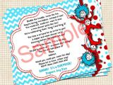 Thing One Thing Two Baby Shower Invitations Dr Seuss Thing 1 Thing 2 Baby Shower Invitation