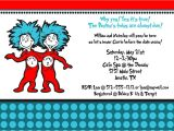 Thing One Thing Two Baby Shower Invitations Thing 1 and Thing 2 Baby Shower Invitation by Freshlycutcards