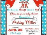 Thing One Thing Two Baby Shower Invitations Thing E Thing Two Baby Shower Invitation Twins Baby
