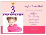 Third Birthday Invitation Quotes 3rd Birthday Invitation Wording A Birthday Cake