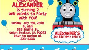 Thomas Birthday Party Invitation Templates attractive Thomas the Train Birthday Invitation Ideas