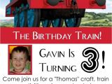 Thomas Birthday Party Invitation Templates Thomas the Engine Invitation Editable