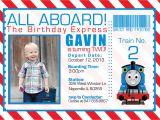 Thomas Birthday Party Invitation Templates Thomas the Train Invitations Ideas – Bagvania Free