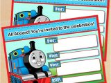 Thomas Photo Birthday Invitations Free Printable Thomas the Tank Engine Birthday Invitation