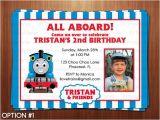 Thomas Photo Birthday Invitations Printable Diy Blue and Red Thomas the Train by