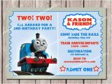 Thomas Photo Birthday Invitations Thomas & Friends Kids Birthday Invitation Printable by