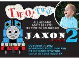 Thomas Photo Birthday Invitations Thomas the Train Birthday Invitation by Ritterdesignstudio
