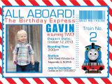 Thomas Photo Birthday Invitations Thomas the Train Invitations Ideas – Bagvania Free