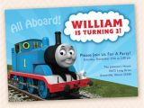 Thomas the Tank Engine Party Invitations Tank Engine Birthday Party Invitation by Llpapergoods On Etsy