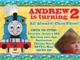 Thomas the Tank Engine Party Invitations Thomas Tank Engine Train Birthday Party Photo Invitation
