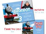 Thomas the Tank Engine Party Invitations Thomas the Train Birthday Party Invitation Set with Thank You