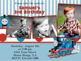 Thomas the Train Photo Birthday Invitations attractive Thomas the Train Birthday Invitation Ideas
